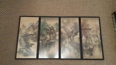 Oriental pictures set of four