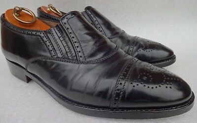 Bally Men's Part Brogue Black Slip On  Leather Shoes Uk 8 Eu 42 Made In Italy