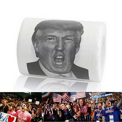 2 ply Donald Trump Funny Toilet Paper Soft Printed Gag Gift Toilet Tissue Roll F