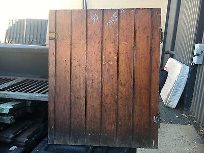 "c1900 antique cabinet pantry door bead board heart pine 30"" x 24.5"""