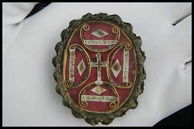 † 17Th True Cross Mary Magdalene Bvm Vatican Reliquary 5 Theca Relics Italy †