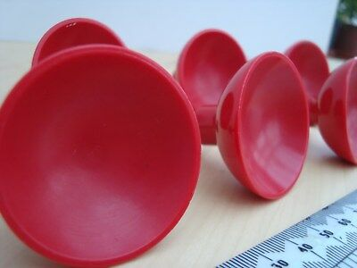 7 Vintage Red Cupboard Door Knobs From English Rose Kitchen. Quality Feel.