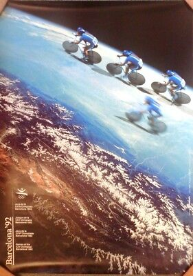 Barcelona 1992 Original Olympic Games Advertising Poster - Cycling