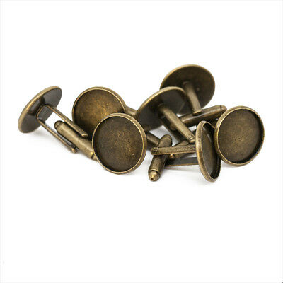 Antique Bronze Cufflink Setting Blanks Fits 16mm Cabochon [18mm external width]