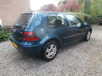 2002 VW Golf mk4 GT tdi Blue Metalic 130 bhp runs well MOT May/18. RELISTED