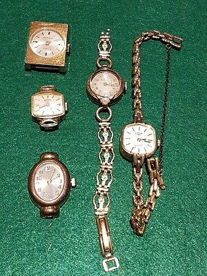 Vintage Watch Job Lot - Not working - spares or repair - Bulova, Rotary -P289