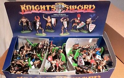 BRITAINS Knights of the sword. Counter pack 42 shield knights 7781 made in UK.
