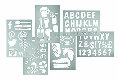 Securit Stencils Set includes Numbers Signs Alphabets Set of 5