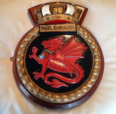 Pre-owned HMS Marlborough Ship's Crest In Excellent Condition.