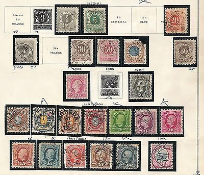 1872-1940 Sweden Collection (6 pages) 131 stamps