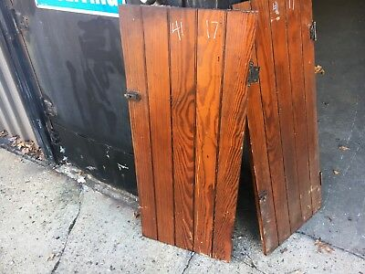 "c1900 antique cabinet pantry door bead board heart pine 41"" high x 17"" wide"