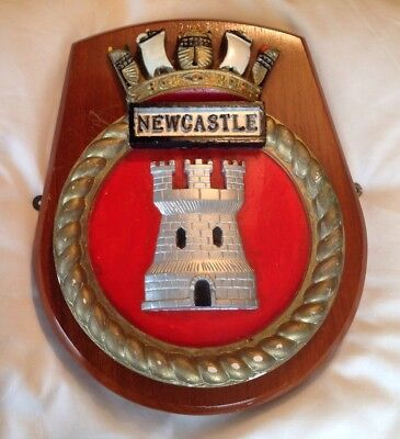 Pre-owned HMS Newcastle Ship's Crest