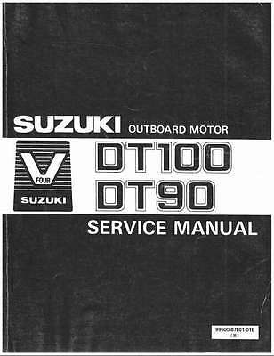 89-00 Suzuki DT90 DT100 2-Stroke Outboard Motor Service Repair Manual CD - DT 90