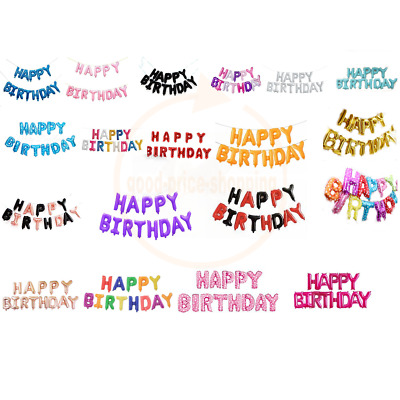 "16"" Happy Birthday Letters Foil Balloon SELF INFLATING BALLOON BANNER BUNTING"