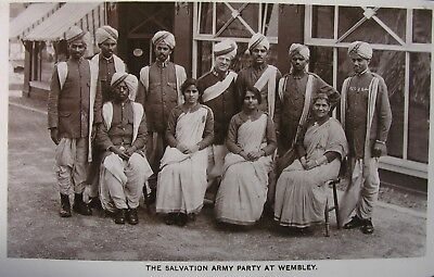 The Salvation Army Indian Party At Wembley Exhibition Middlesex Early Pb Rp Pc