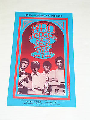 THE WHO & MC5 TORONTO CONCERT POSTER by GARY GRIMSHAW