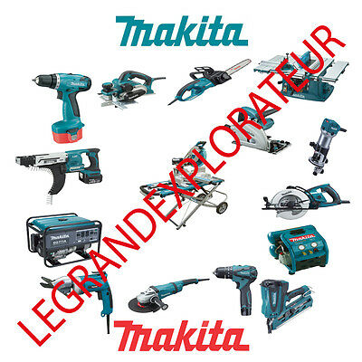 Ultimate Makita Operation Repair Service manual Parts List Collection PDF on DVD