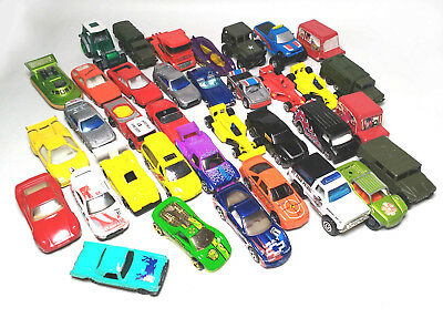 Die Cast Metal Car Models Bundle - Small Toy Vehicles, Various - Job Lot