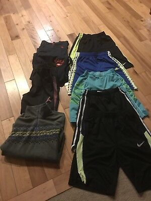 Lot 9-piece Of Boys Athletic Clothes-size Large