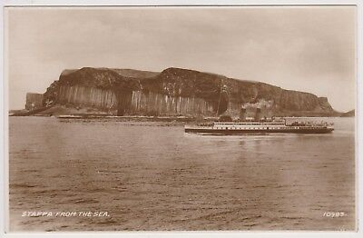 Old Photo Postcard Staffa From The Sea Valentines