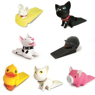 Cute Cartoon Cat Dog Pig Animals Door Stopper Holder PVC Safety for Baby Home