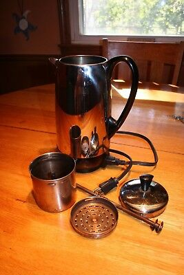 Vtg USA Made Farberware Superfast Stainless 12-Cup Percolator Coffee Pot Maker