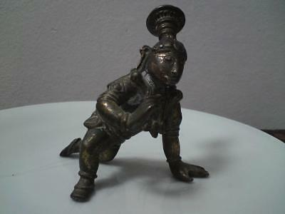 18th-19th century South Indian Tamil Nadu style Bronze Krishna Infant Crawling