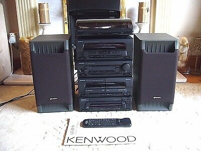 Quality Kenwood Hi-Fi System with Kenwood Turntable and Sansui Speakers