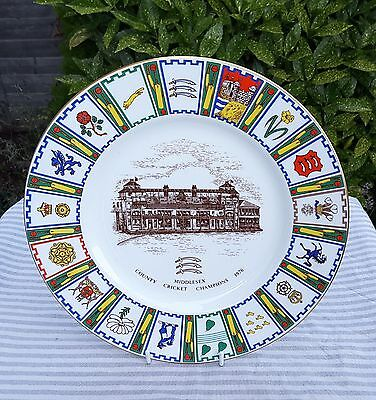 MIDDLESEX CCC - COUNTY CHAMPIONSHIP WINNERS PLATE 1976 [by Coalport]
