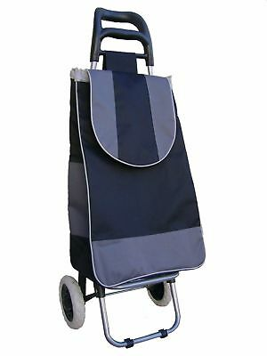 grocery folding shopping cart with bag carry on color ( black & gray )
