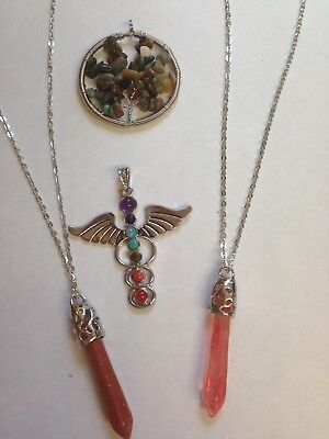 Job Lot Of Jewellery 4 pendants