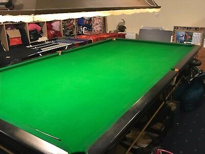 Full Size Slate Bed Snooker Table with light