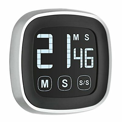 TFA Inverted Display Digital Stopwatch Countdown Timer, Black