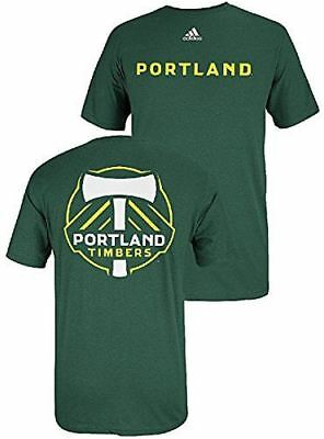 Adidas Portland Timbers FC Green 2 Sided MLS Primary Two T Shirt