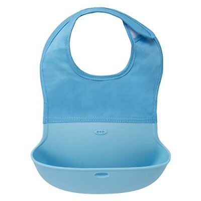OXO Tot Roll Up Bib Aqua