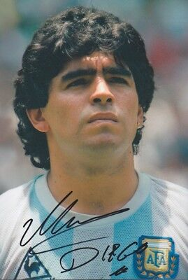 DIEGO MARADONNA WM 1986 Autogramm Foto 20x30 original IN PERSON signiert SELTEN