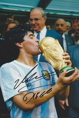 DIEGO MARADONNA WM 86 Autogramm Foto 20x30 original IN PERSON signiert SELTEN