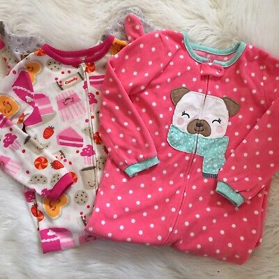 Carter's Girls Blanket Sleeper Footed Pajamas, Size 5T Candy Sweets Winter Puppy