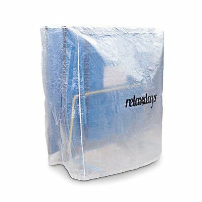 Relaxdays Ping Pong Protective Table Cover with Zippers - Transparent, Medium