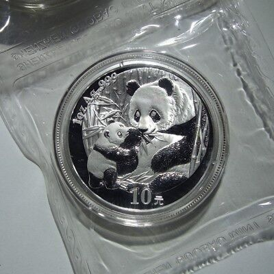 2005 Chinese Panda 1 oz .999 Silver China 10 Yuan Double Sealed