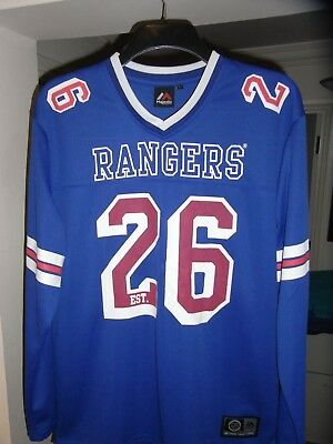 New York Rangers Ice Hockey Shirt - Majestic - LARGE Adult - NHL - MINT - LOOK
