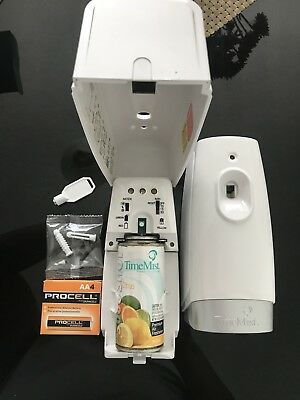 2 TimeMist Micro Metered  AirFreshener Dispensers + Batteries.