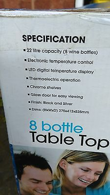 coolzone 8 bottle table wine chiller