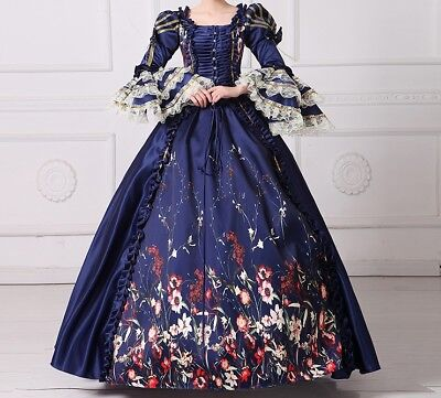 17th 18th century Renaissance wedding Dress Ball Gown Victorian theater Costume