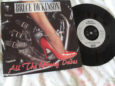"""Bruce Dickinson - All The Young Dudes Nr Mint 7"""" Vinyl Single Picture Sleeve"""