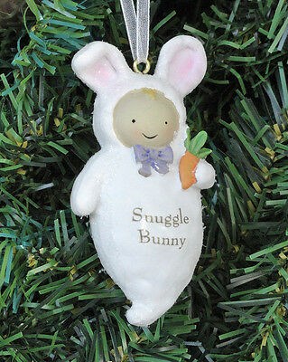 Enchanted Forest Baby Snuggle Bunny Holiday 1st Xmas Ornament NWT Free USA Ship