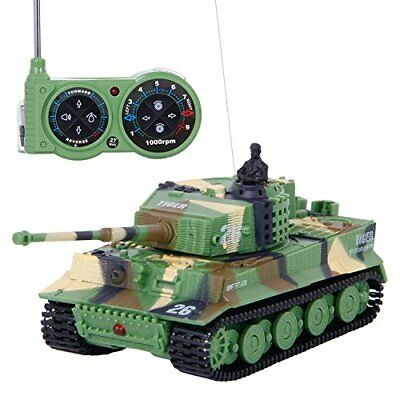 SGILE 172 Mini RC Tank with Remote Control German Tiger Panzer Tank Assorted Co