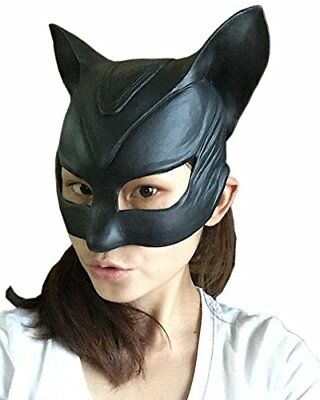 Queenshiny Latex Realstic Head Mask Halloween Cosplay Party Costume Fancy Dress