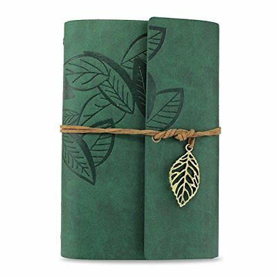 KEESIN Vintage PU Leather Cover Journal Notebook Loose Leaf Blank Notebook Trave