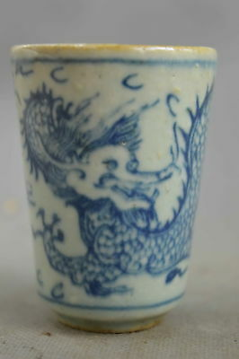 Collectable Handmade Porcelain Piant Exorcism Dragon Royal Family Delicate Cup